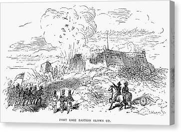 Battle Of Fort Erie, 1814 Canvas Print by Granger