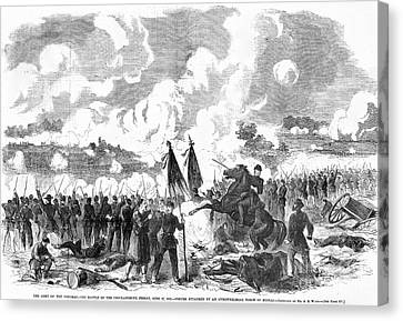 Battle Of The Chickahominy Canvas Print by Granger
