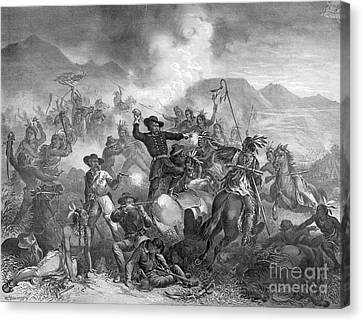 Battle On The Little Big Horn, 1876 Canvas Print by Photo Researchers