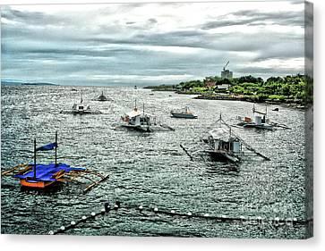 Bay Of Mactan Island Philippines Canvas Print by Anita Antonia Nowack