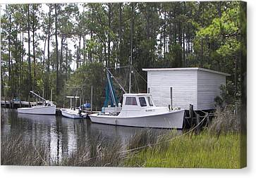 Bay Shrimper Canvas Print by Kevin Brant
