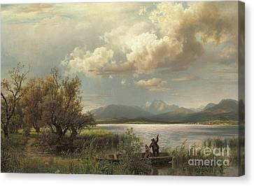 Bayern Landscape Canvas Print by Augustus Wilhelm Leu