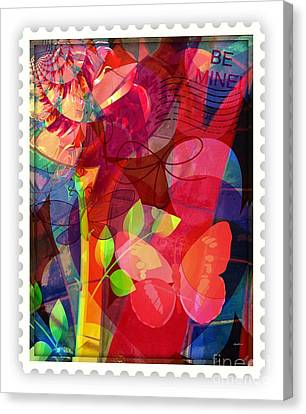 Be Mine By Mail Canvas Print by Fania Simon