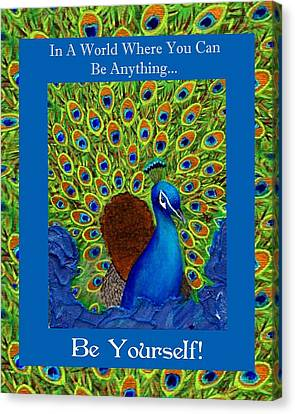 Be Yourself Canvas Print by The Art With A Heart By Charlotte Phillips