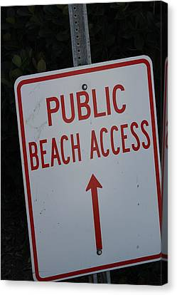 Beach Access Canvas Print by Static Studios