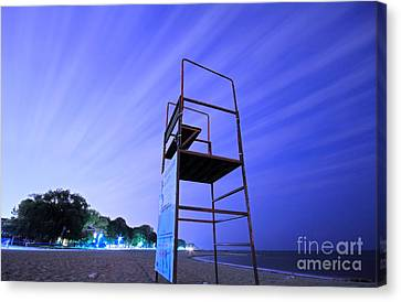 Beach At Night Canvas Print by Charline Xia