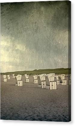 Beach Chairs Canvas Print by Joana Kruse