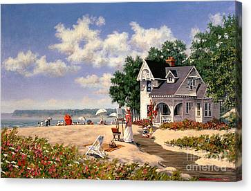 Beach Days Canvas Print by Michael Swanson