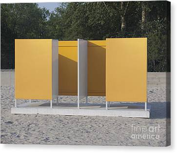 Beach Dressing Rooms Canvas Print by Jaak Nilson