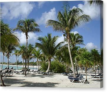 Beach - Mayan Riviera - Mexico -yucatan Peninsula Canvas Print by Renata Ratajczyk