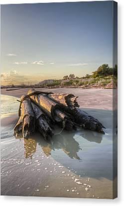 Beach Ruins  Canvas Print by Drew Castelhano