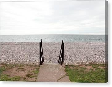Beach Steps Canvas Print by Thenakedsnail