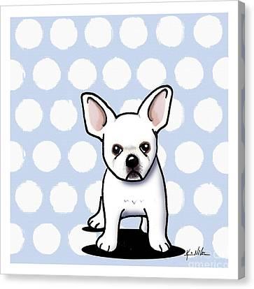 Beachy In Blue Bulldog Canvas Print by Kim Niles