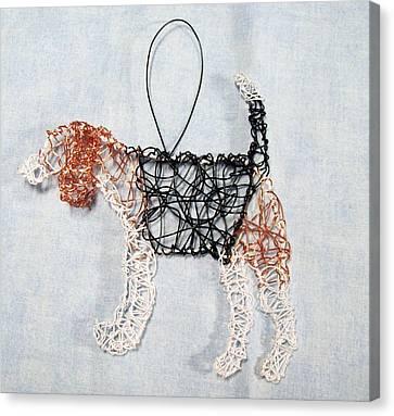 Beagle Ornament Canvas Print by Charlene White