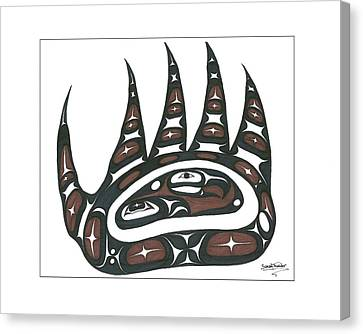 Bear Claw Brown Canvas Print by Speakthunder Berry