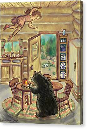 Bear In The Kitchen - Dream Series 7 Canvas Print by Dawn Senior-Trask