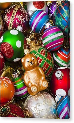 Bear Ornament Canvas Print by Garry Gay