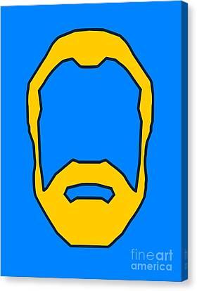 Beard Graphic  Canvas Print by Pixel Chimp