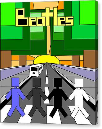 Beatles Abby Road Canvas Print by Brian Roberts