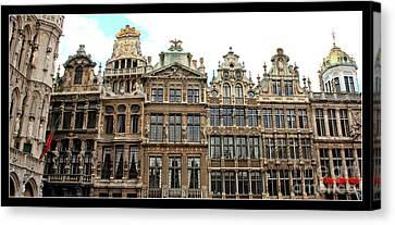 Beautiful Belgian Buildings - Digital Art Canvas Print by Carol Groenen