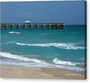 Beautiful Day At The Beach Canvas Print by Sabrina L Ryan