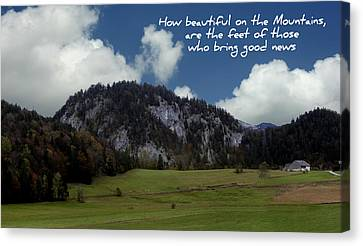 Beautiful Mountains Canvas Print by Cecil Fuselier