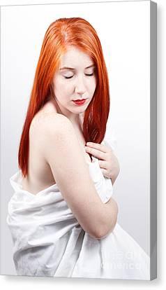 Beautiful Redhead Studio Shot Canvas Print by Gabriela Insuratelu