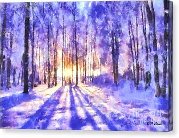 Beautiful Winter Morning Canvas Print by Elizabeth Coats