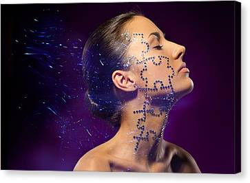 Beauty Puzzles Canvas Print by Pavlo Kolotenko