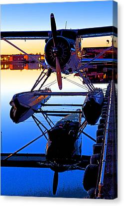 Beaver At Twilight- Abstract Canvas Print by Tim Grams