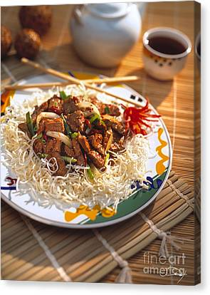 Beef Stir Fry Canvas Print by Vance Fox