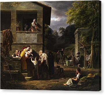 Beggar Canvas Print by Antoine Beranger