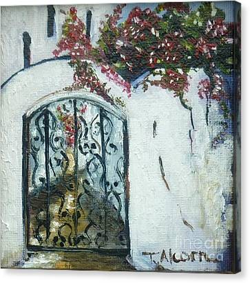 Behind The Iron Gate Canvas Print by Therese Alcorn