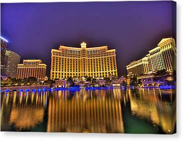 Belagio Las Vegas Canvas Print by Nicholas  Grunas