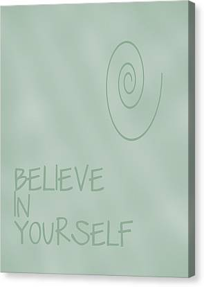 Believe In Yourself Canvas Print by Georgia Fowler