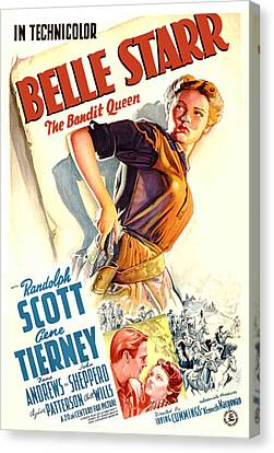 Belle Starr, Gene Tierney, Randolph Canvas Print by Everett