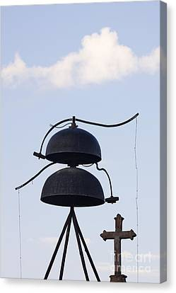 Bells And Cross Canvas Print by Jeremy Woodhouse