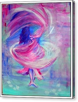 Belly Dancer Canvas Print by Regina Levai