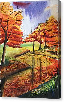 Beloved Autumn Canvas Print by Shakhenabat Kasana