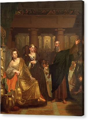 Belshazzar's Feast Canvas Print by Washington Allston