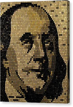 Ben Franklin Canvas Print by Doug Powell