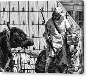 Berber Bw Canvas Print by Chuck Kuhn