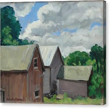 Berkshire Barns Canvas Print by Thor Wickstrom