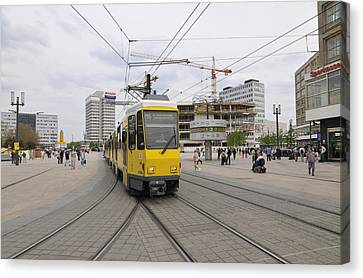 Berlin Alexanderplatz Square Canvas Print by Matthias Hauser