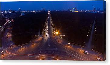 Berlin From The Siegessaule  Canvas Print by Mike Reid
