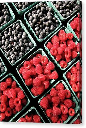 Berry Baskets Canvas Print by Denise Taylor
