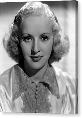 Betty Grable, 1937 Canvas Print by Everett