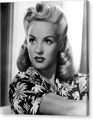 Betty Grable, 20th Century-fox, 1940s Canvas Print by Everett