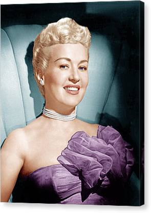Betty Grable, Ca. 1950s Canvas Print by Everett