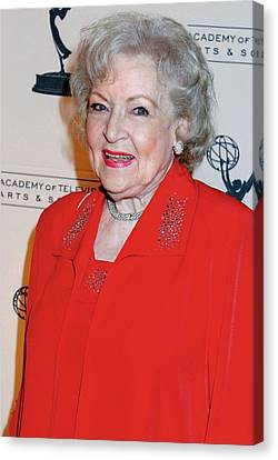 Betty White At Arrivals For The Academy Canvas Print by Everett